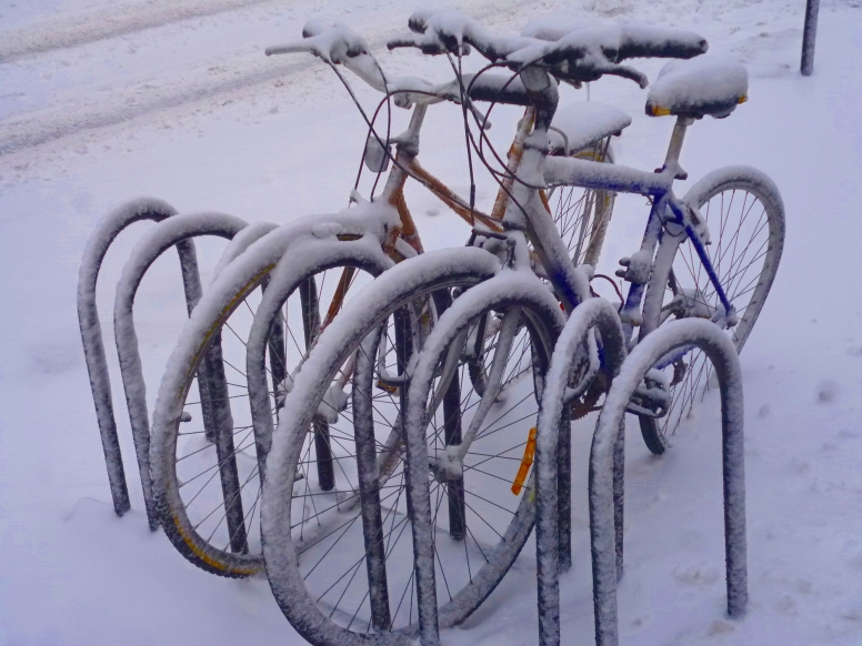 Bikes in Winter, Montreal