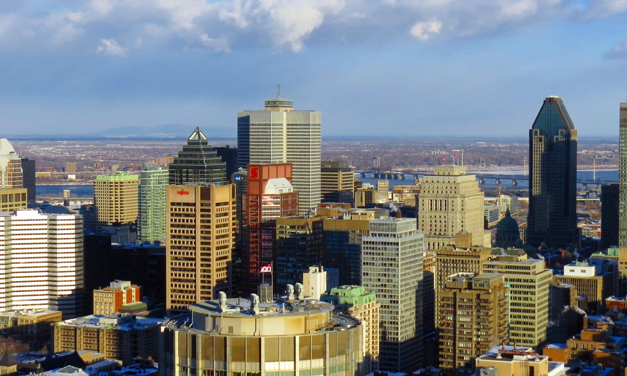 Montreal Viewed from Chalet Park Mont-Royal